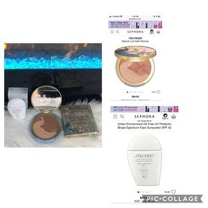 Set.Shiseido anti-aging spf42/Too Faced bronzer